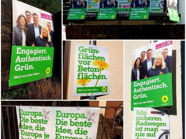 Grüne Plakate
